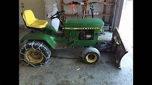 John Deere 140 H1 Garden Tractor With 54 U0026quot  Hydraulic Power