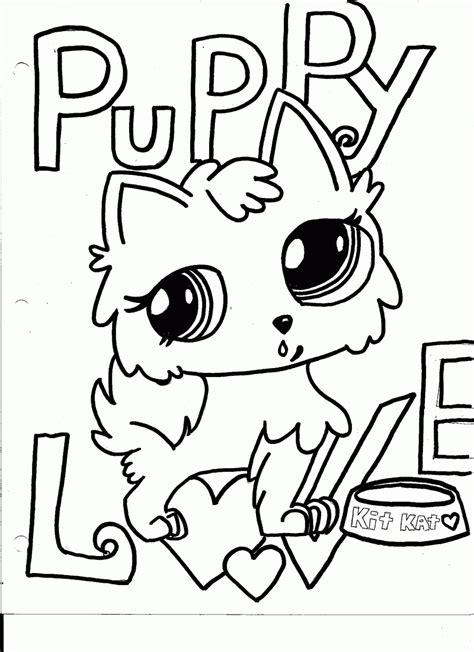 littlest pet shop coloring pages dog coloring home
