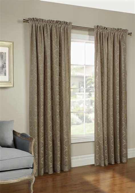 Annas Linens Curtain Rods by Insulated Rod Pocket Panel Pair Thermalace