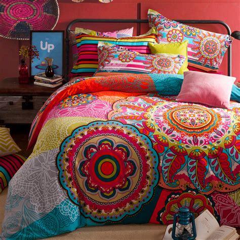 luxury comforter bohemian bedding set boho style moroccan