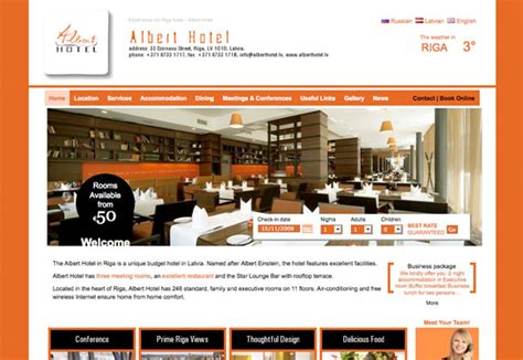 Best Webpages Checking In Hotel Web Design 50 Cosy Hotel Websites And