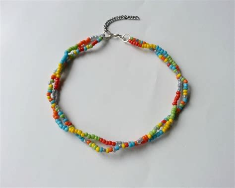 diy seed bead payel     anklet jewelry