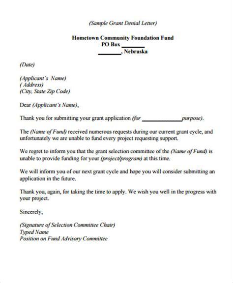 refusal letter  customer apology  refusal  client