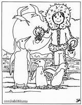 Eskimo Coloring Coloriage Hellokids Flock Pinguin Esquimau Banquise Ausmalbilder Animaux Penguins Coloriages Penguin Colorir Ausmalen Zum Pinguins Imprimer Madagascar Os sketch template