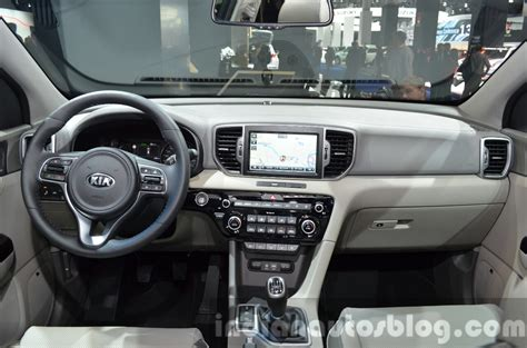 kia sportage 2017 interior 2017 kia sportage dashboard interior at iaa 2015 indian