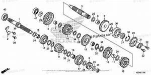 Honda Motorcycle 2017 Oem Parts Diagram For Transmission