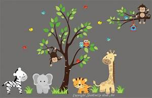Wall decal fantastic jungle theme wall decals for kids for Fantastic jungle theme wall decals for kids room
