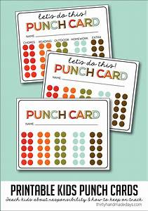 Behavior punch cards images for Printable punch card