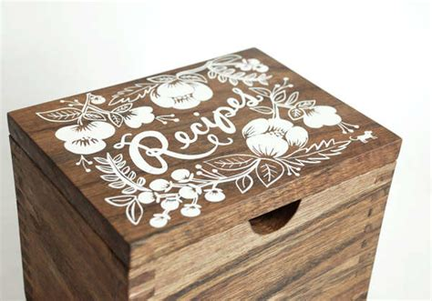 gorgeous wooden heirloom recipe boxes  rifle handmade mywedding