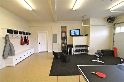 Garage Workout Room Ideas by Garage Rec Room Contemporary Portland By