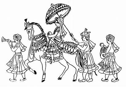 Indian Symbols Drawing Weddings Hindu Marriage Invitation