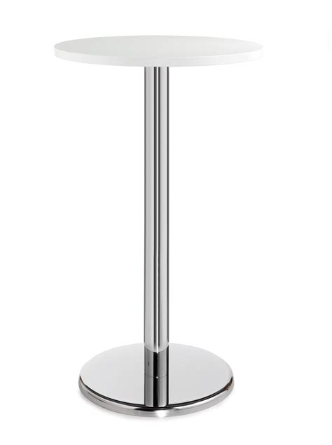 ideal depth and table for round pisa 800mm diameter round poser table white and chrome