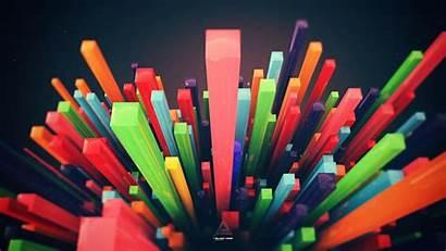 Lines Minimalistic Multicolor Abstract Colorful Codes Desktop