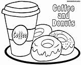 Coloring Coffee Printable Donut Colouring Donuts Getcolorings Drawing Colorings Unicorn Getdrawings Popular sketch template