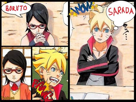 Boruto And Sarada Collage Wallpaper By Weissdrum On Deviantart
