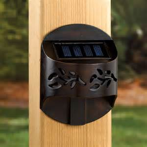 leaf solar accent railing light