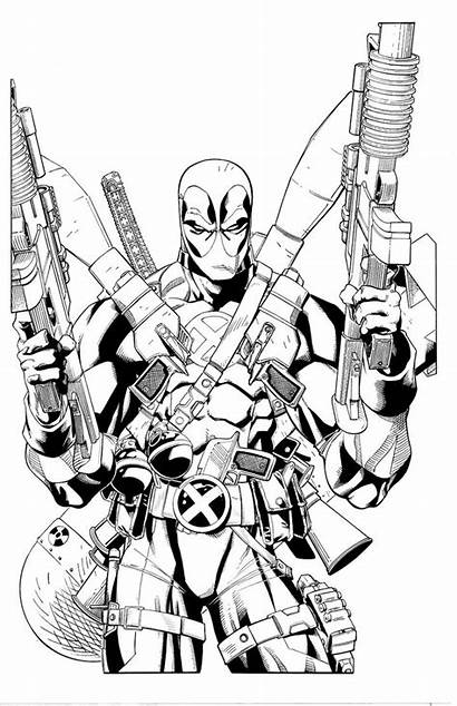 Deadpool Coloring Pages Loaded Fully Printable Dessin