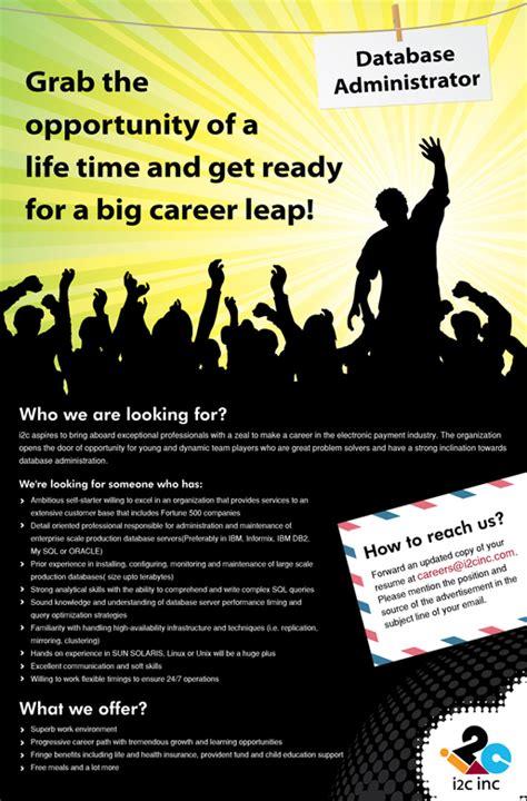 nice set   job poster designs  design work