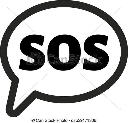 The sos icon. help symbol. flat. The sos speech bubble ...