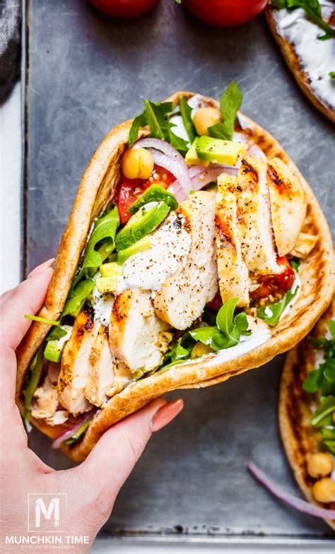 Easy Grilled Chicken Pita Recipe - Munchkin Time