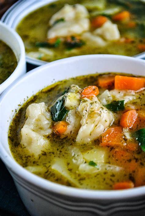 easy vegetable and dumpling soup vegansandra