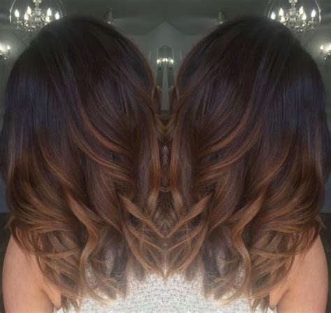 dark brown hair with light brown ombre dark brown with chocolate and caramel ombré hair hair