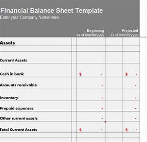 Template For Cover Letter Financial Balance Sheet Template My Excel Templates
