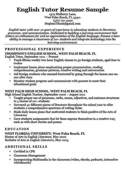 preschool teacher resume sample writing tips resume