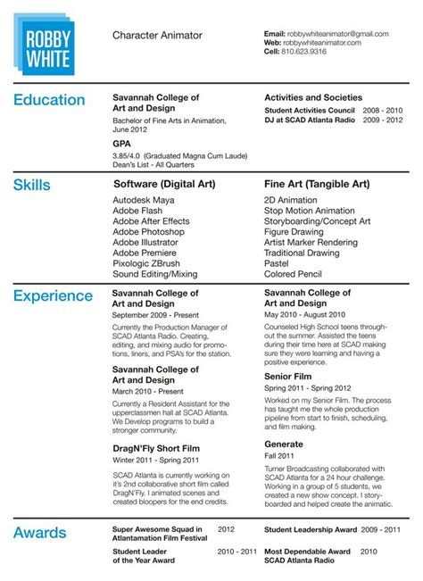 pin  emily  computer animation resume samples sample resume resume  resume