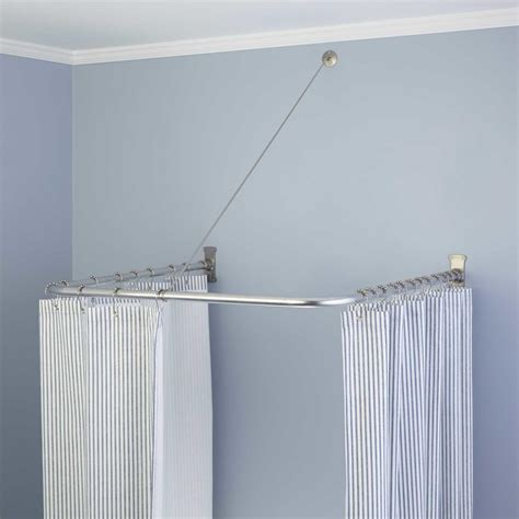 L Shaped Drapery Rod - u shaped shower curtain rod with support 30 quot l x 30 quot w