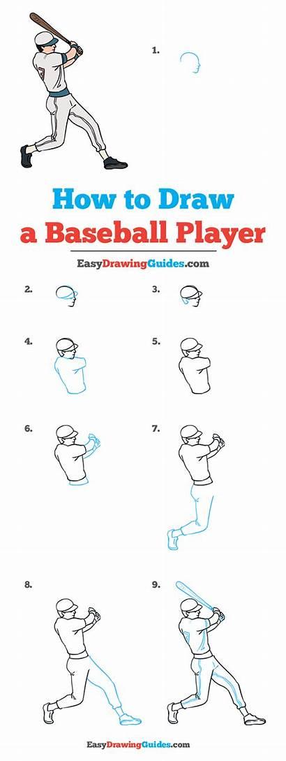 Baseball Player Draw Drawing Easy Tutorial Easydrawingguides