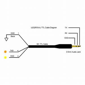 5v ttl 232r serial uart cable 6ft with 35mm audio jack With audio cable wiring