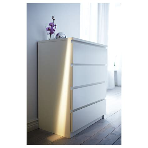 malm chest of 4 drawers white 80x100 cm ikea