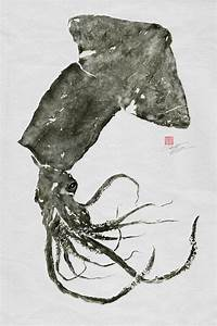 GIANT SQUID (Humboldt Squid) GYOTAKU print - traditional ...