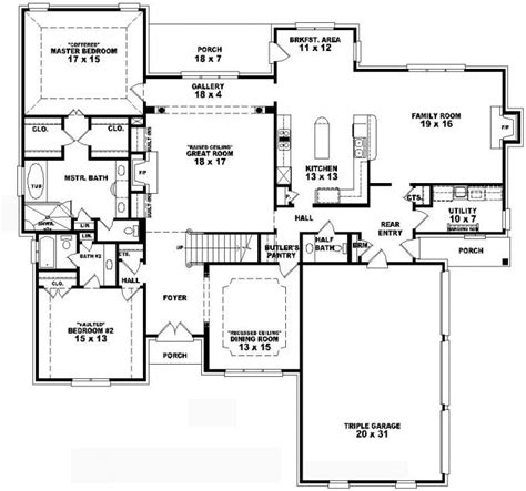 4 bedroom 2 house plans 653736 two 4 bedroom 3 5 bath traditional