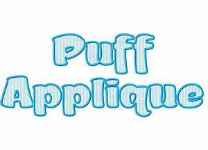 puff applique machine embroidery alphabet font With free applique letters for embroidery machine