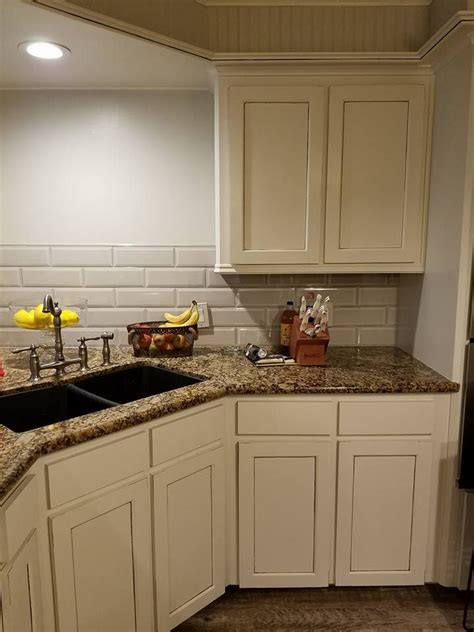 kitchen cabinets baltic brown counter glazed cream