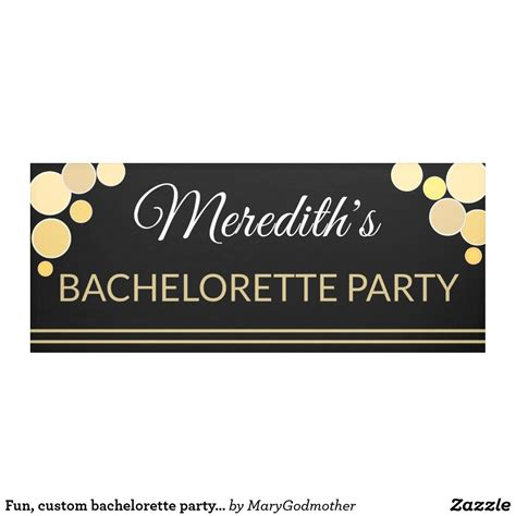 fun custom bachelorette party banner  images