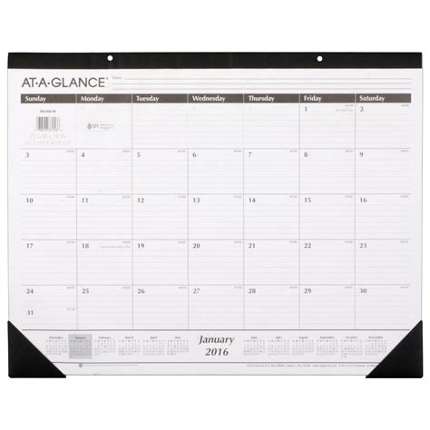 large desk calendar 2017 amazon com at a glance monthly desk pad calendar 2016