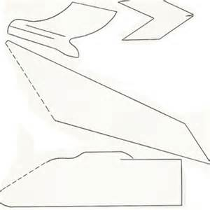 upcycle used paper into a papercraft airplane toy portugues With airplane cut out template