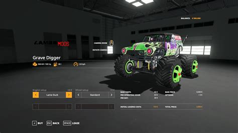 grave digger monster truck   farming simulator
