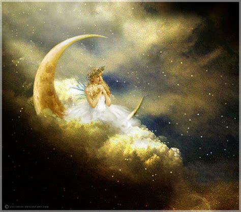 moon and stars fairy l fairy on a crescent moon just too cool pinterest