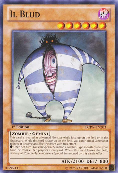 blud il yugioh yu gi oh gemini card cards monsters scariest monster ugliest buld zombie wikia lcjw creepiest son ygo