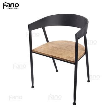 cheap waiting room chairs industrial iron wood dining chair restaurant metal wood chair buy
