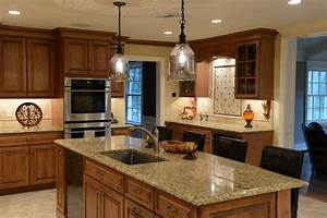 Beautiful maple with a stain glaze finish, Italian granite