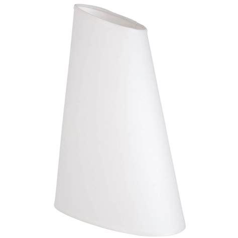 abat jour ovale tronqu 233 en coton blanc disponible sur