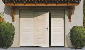Porte De Garage Basculante Sur Mesure : porte de garage basculante avec portillon centpourcentpose vente et pose de menuiseries ~ Melissatoandfro.com Idées de Décoration