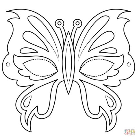 Coloring Mask by Butterfly Mask Coloring Page Free Printable Coloring Pages