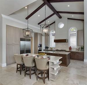 Classic Modern Minimalist Vaulted Ceiling Kitchen Lighting