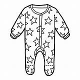 Sleepsuit Pyjama Malbuch Nightwear Pigiami Nuvola sketch template